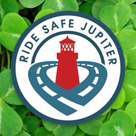 """Ride Safe Jupiter St Patricks day logo"""