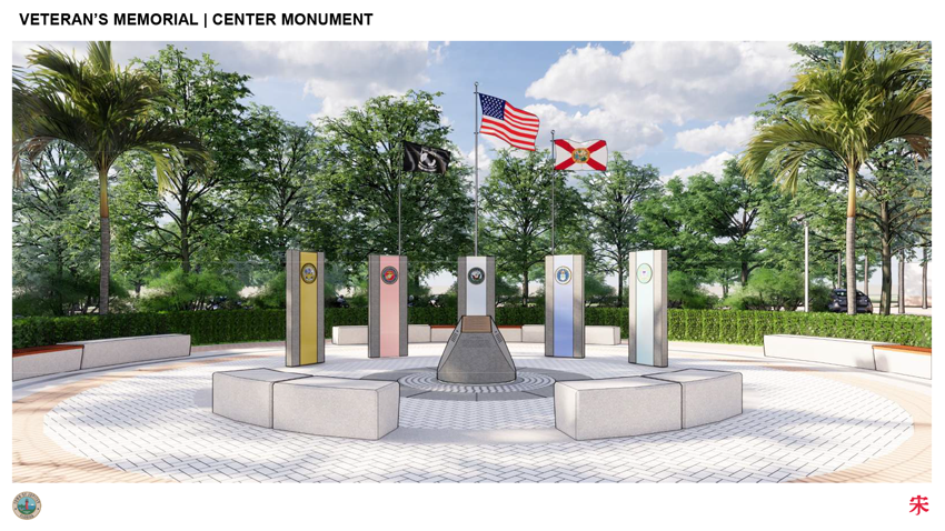 Picture of proposed rendering of Jupiter veterans memorial